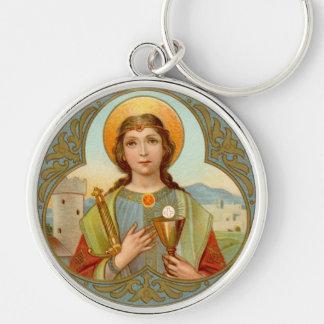 Porte-clés Métal rond de la meilleure qualité de St Barbara