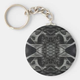 Porte-clés Métallique médiéval gothique de texture grunge en