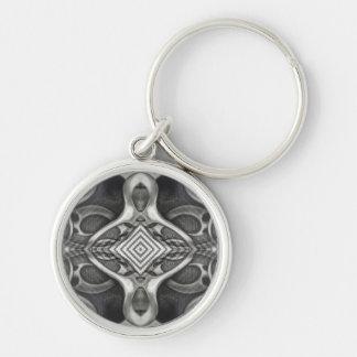 Porte-clés Métallique médiéval gothique tribal en métal gris