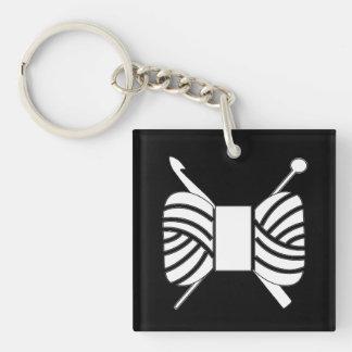Porte-clés Métiers de crochet de Knit de logo de fil {foncés}
