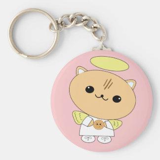Porte-clés Minou adorable d'ange de kawaii avec le porte -