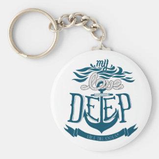 Porte-clés Mon amour est profond comme l'océan
