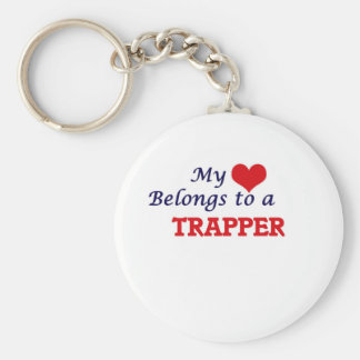 Porte-clés Mon coeur appartient à un trappeur