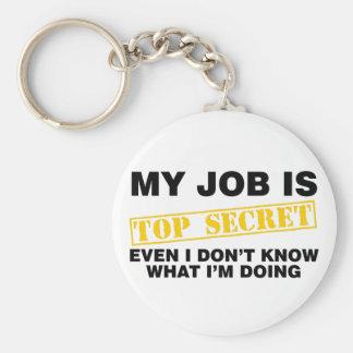 Porte-clés Mon travail est extrêmement secret