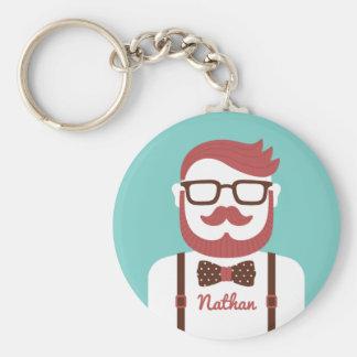 Porte-clés Monsieur de hippie de moustache son porte - clé