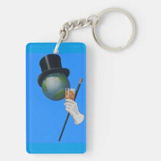Porte-clés Monsieur Earth a un cocktail