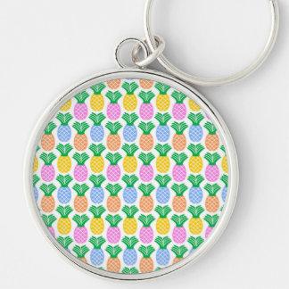 Porte-clés Motif à la mode coloré d'ananas