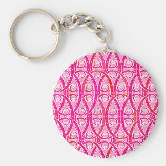 Porte-clés Motif d'arabesque - rose de fraise