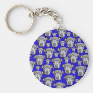 Porte-clés Motif de chiot de bull-terrier du Staffordshire,