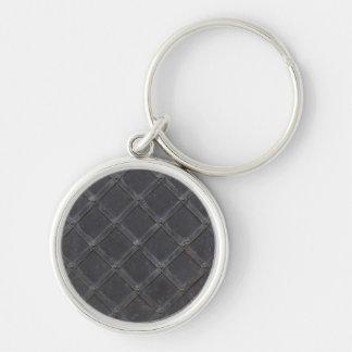Porte-clés Motif de diamant en métal de fer