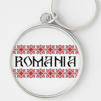 Porte-clés motif de gens des textes de nom de symbole de pays