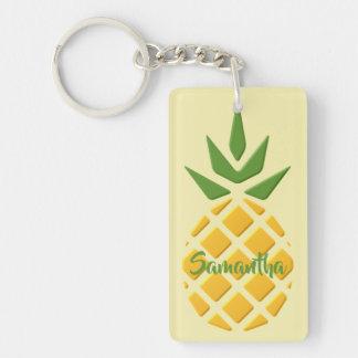 Porte-clés motif de l'ananas 3D et de l'ananas
