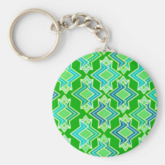 Porte-clés Motif de papier peint d'art déco, vert de jade