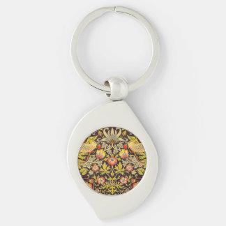 Porte-clés Motif de voleur de fraise de William Morris