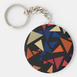 Porte-clés Motif géométrique coloré