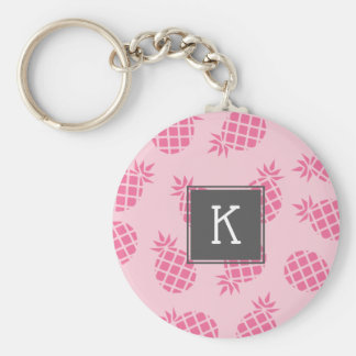 Porte-clés Motif mignon Girly d'ananas de rose en pastel