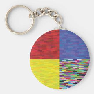 Porte-clés motif multicolore