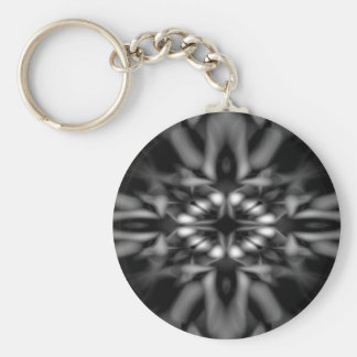 Porte-clés Motif noir et blanc de kaléidoscope