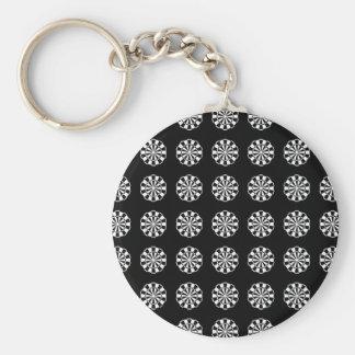 Porte-clés Motif noir et blanc de panneau de dard