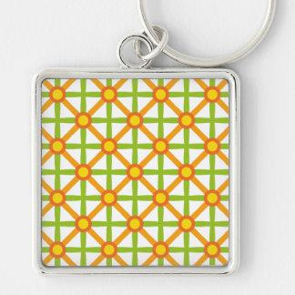 Porte-clés Motif vert et orange génial