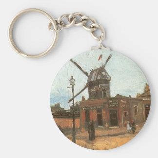 Porte-clés Moulin de la Galette par Vincent van Gogh, moulin