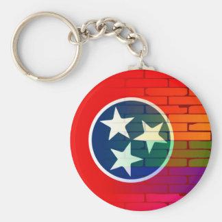 Porte-clés Mur Tennessee d'arc-en-ciel