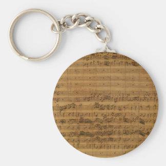 Porte-clés Musique de feuille vintage par Johann Sebastian