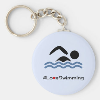 Porte-clés Nageur de pictogramme de légende de natation