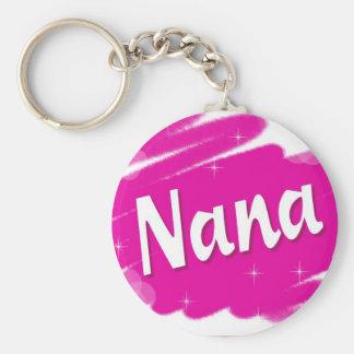 Porte-clés Nana aime le rose