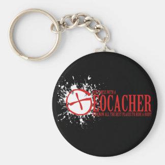 Porte-clés Ne salissez pas avec un Geocacher