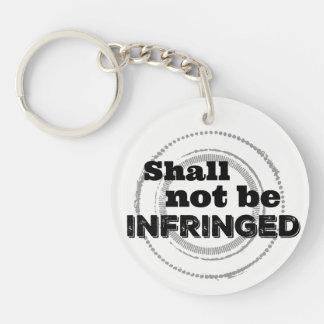 Porte-clés Ne sera pas violé - la deuxième fierté