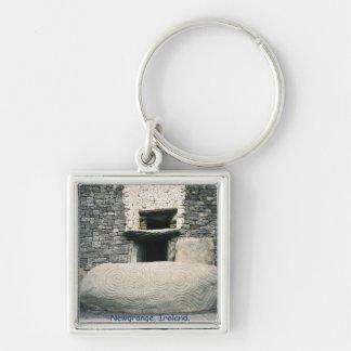 Porte-clés Newgrange Irlande, pierre en spirale de symboles