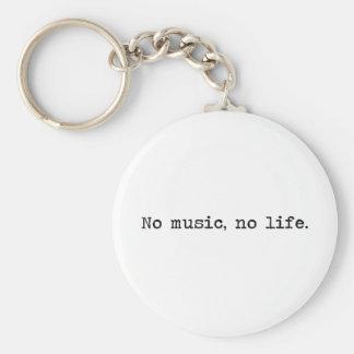 Porte-clés No music, no life.