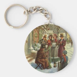 Porte-clés Noël vintage, musique victorienne de jeu de