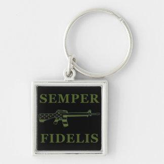 Porte-clés Noir modéré par porte - clé de Semper Fidelis M16