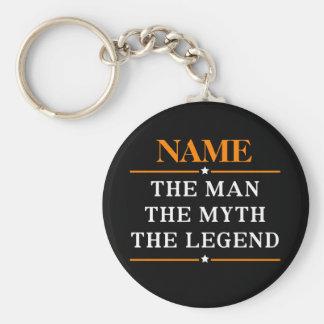 Porte-clés Nom personnalisé l'homme le mythe la légende