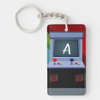 Porte-clés Nom personnalisé par manette de jeu vidéo d'arcade