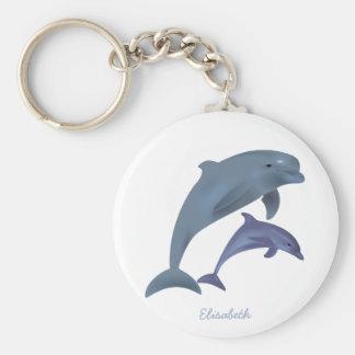 Porte-clés Nom sautant d'illustration de dauphins