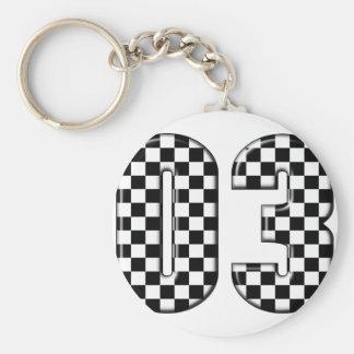 Porte-clés nombre checkered de l'emballage 03 automatique