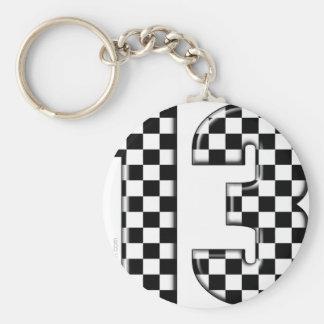 Porte-clés nombre checkered de l'emballage 13 automatique