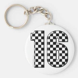 Porte-clés nombre checkered de l'emballage 16 automatique