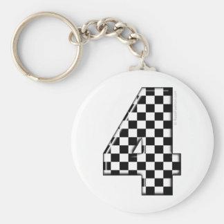 Porte-clés nombre checkered de l'emballage 4 automatique