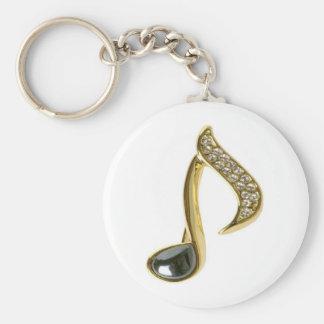 Porte-clés Note musicale d'or