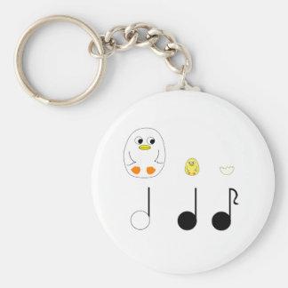 Porte-clés notes musicales
