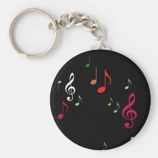Porte-clés notes musicales colorées