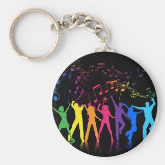 Porte-clés Notes musicales et danseurs colorés