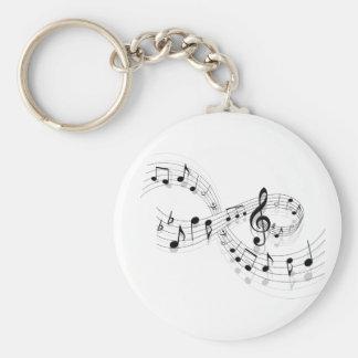 Porte-clés Notes musicales sur une ligne de personnel porte -
