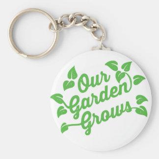 Porte-clés Notre jardin élève le porte - clé