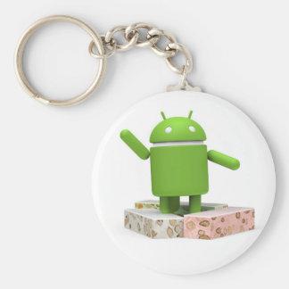 Porte-clés Nougat androïde