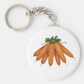 Porte-clés Nourriture vintage, groupe de légumes organiques